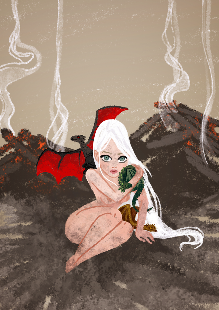 """Daenerys Targaryen"" illustration,by Carolina Buzio"