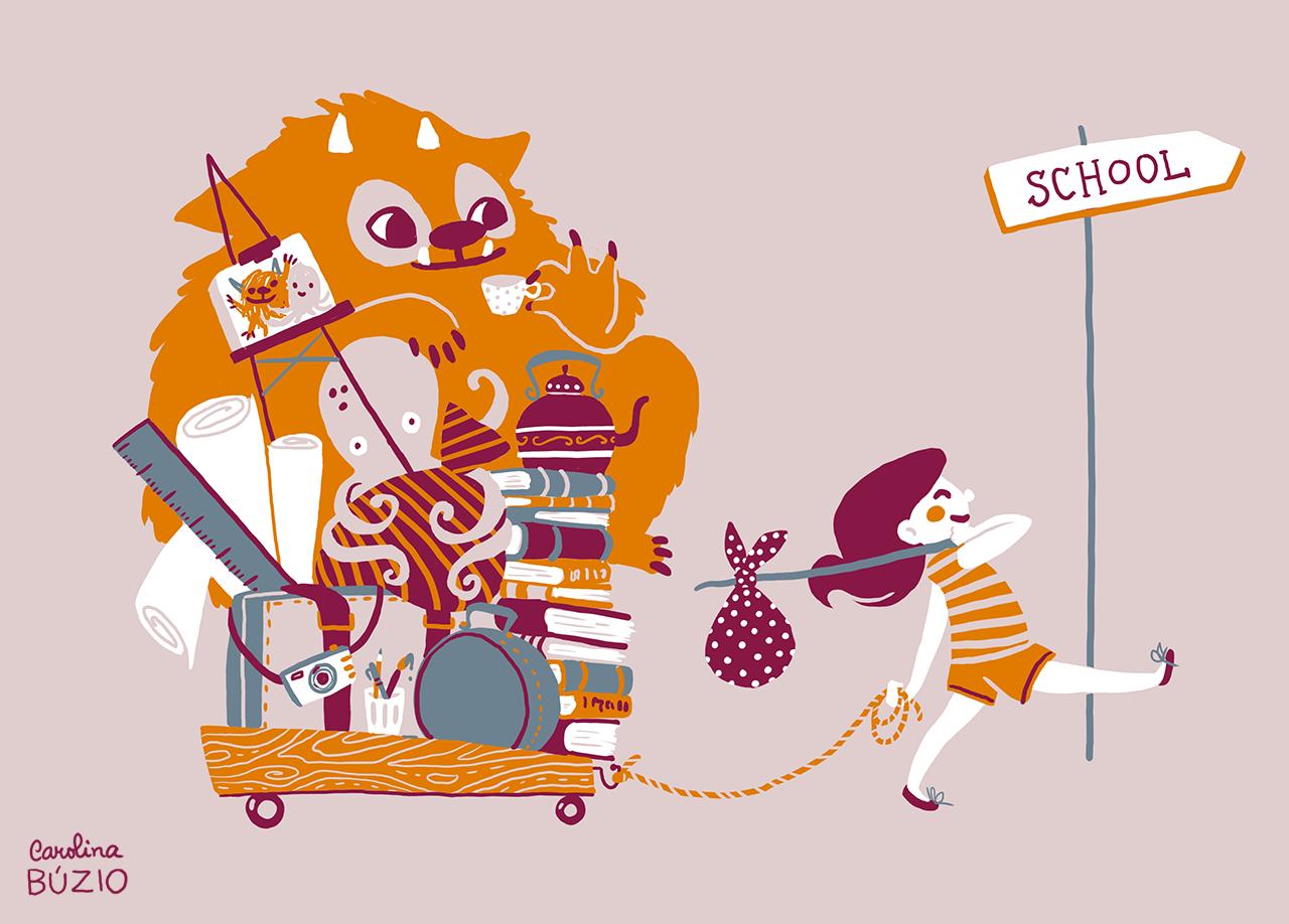 school illustration ile ilgili görsel sonucu