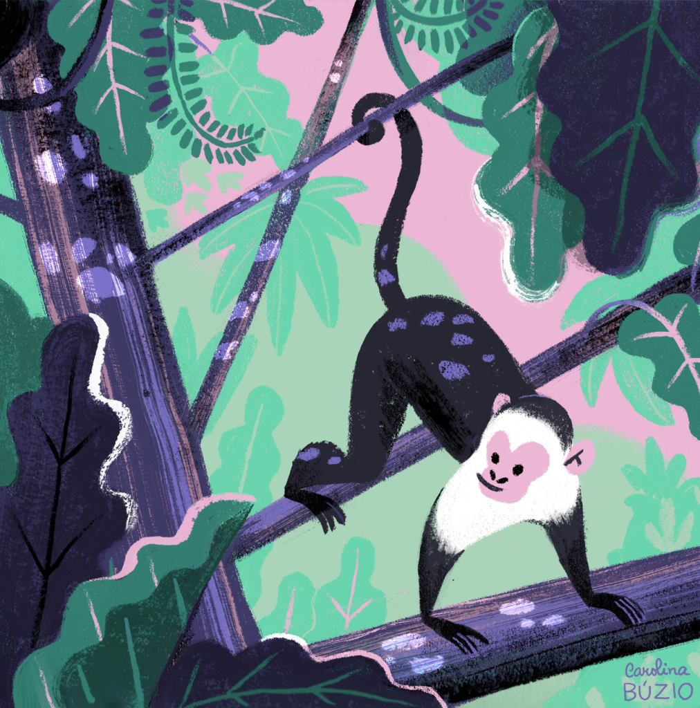 jungle monkey by Carolina Buzio